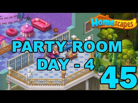 HOMESCAPES STORY WALKTHROUGH - PARTY ROOM DAY 4 - GAMEPLAY - #45 - BALCONY