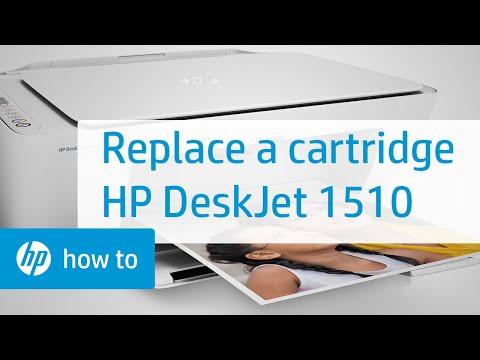 Replacing a Cartridge - HP Deskjet 1510 All-in-One Printer