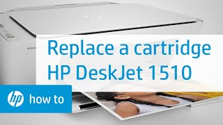 Replacing a Cartridge - HP Deskjet 1510 All-in-One Printer(, 2013-10-10T17:24:54.000Z)