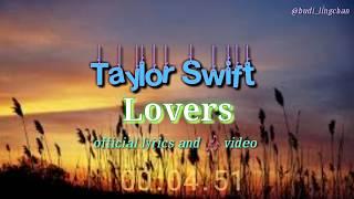 Taylor Swift - lover _ official lirik dan terjemahan indonesia.  Lagu terbaru