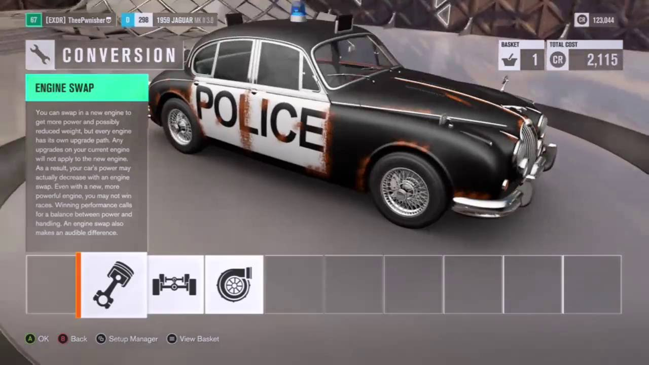 Forza Horizon 3 PROPER POLICE CAR BARN FIND