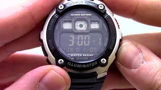 Годинник Casio Illuminator AE-2000W-1B Інструкція, як налаштувати від PresidentWatches.Ru