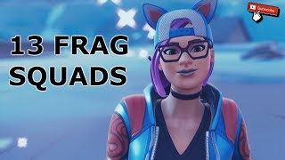 13 FRAG SQUADS WITH LYNX SKIN (FORTNITE GAMEPLAY)