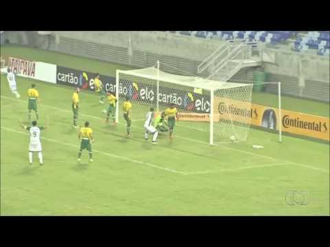 Gols Cuiabá 1x1 Goiás - Imagens: Tv Anhanguera (Globo)