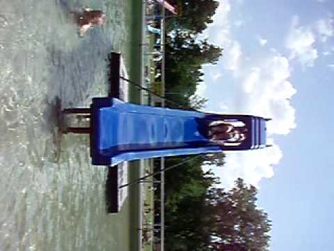 Valerie going down slide at VB