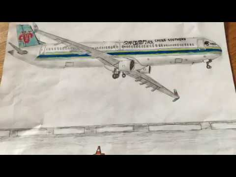 My Realistic Aircraft Drawing China Southern Boeing 737 800