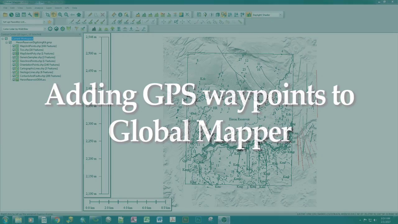 How to add CSV/GPX point files to Global Mapper