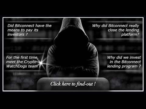 THE CRYPTO WATCHDOGS REVEAL WHO THEY ARE! SORT OF! BITCONNECT SCAM! CLASS ACTION LAWSUIT