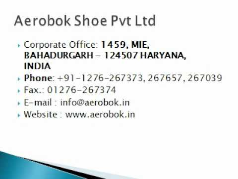 Aerobok Shoe Pvt Ltd - YouTube