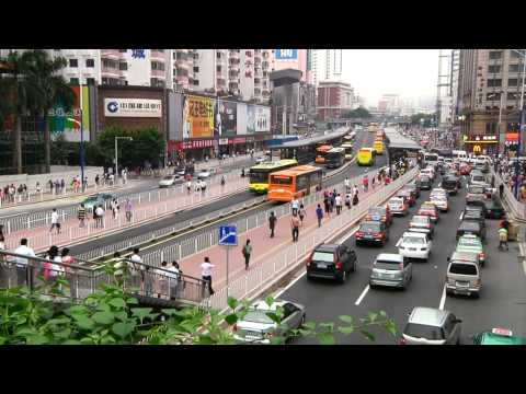 Guangzhou Bus Rapid Transit (BRT) video
