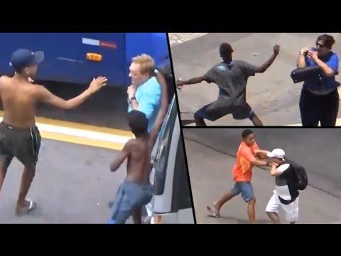 Cum se fura in Brazilia Atentie !!! #Grup de copii fura pe strazile din Brazilia