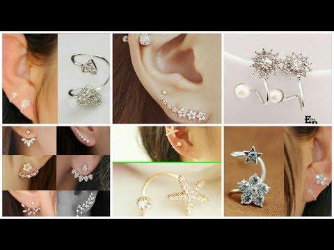 Latest Top 50 Double Sided Earrings    Gold Daily Wear Ear Cuff