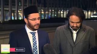 Imam of Ahmadiyya Muslim Mosque Belgium condemns Brussels terror attacks