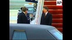 USA: WASHINGTON: ARRIVAL OF BRITISH PRIME MINISTER BLAIR