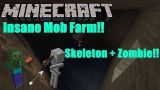 Minecraft Mob Spawner XP Farm!! | 1.13.2 | Skeleton + Zombie Farm!!
