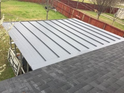Fabricating and Installing Charcoal Grey Standing Seam Metal Roof