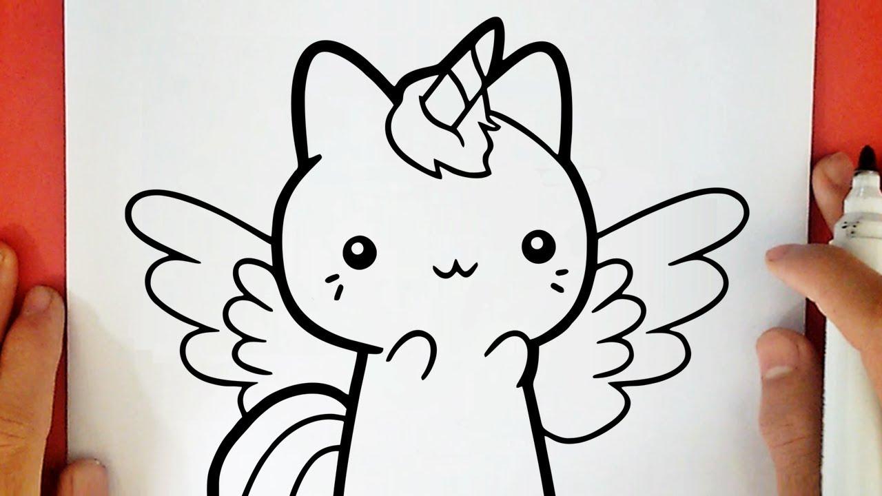 Come Disegnare Un Gatto Unicorno Kawaii Youtube