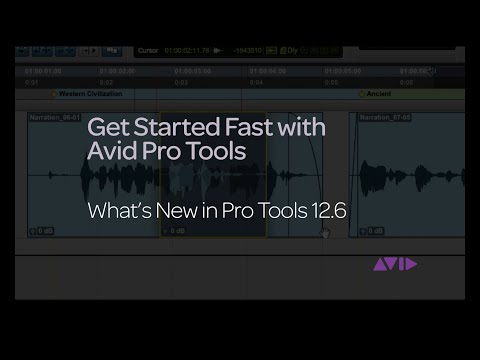 Get Started Fast with Avid Pro Tools – What's New in Pro Tools 12.6