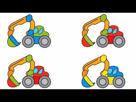 Развивающие Игры для Детей - машинки и картинки - КапукиКануки мультфильмы про машинки - экскаватор