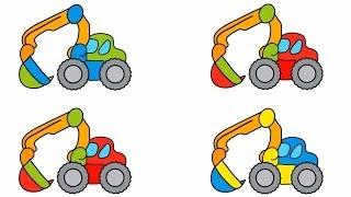 - Развивающие Игры для Детей машинки и картинки КапукиКануки мультфильмы про машинки экскаватор