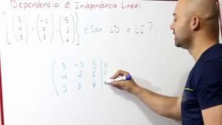 Dependencia e Independencia Lineal   Vectores   Álgebra Lineal