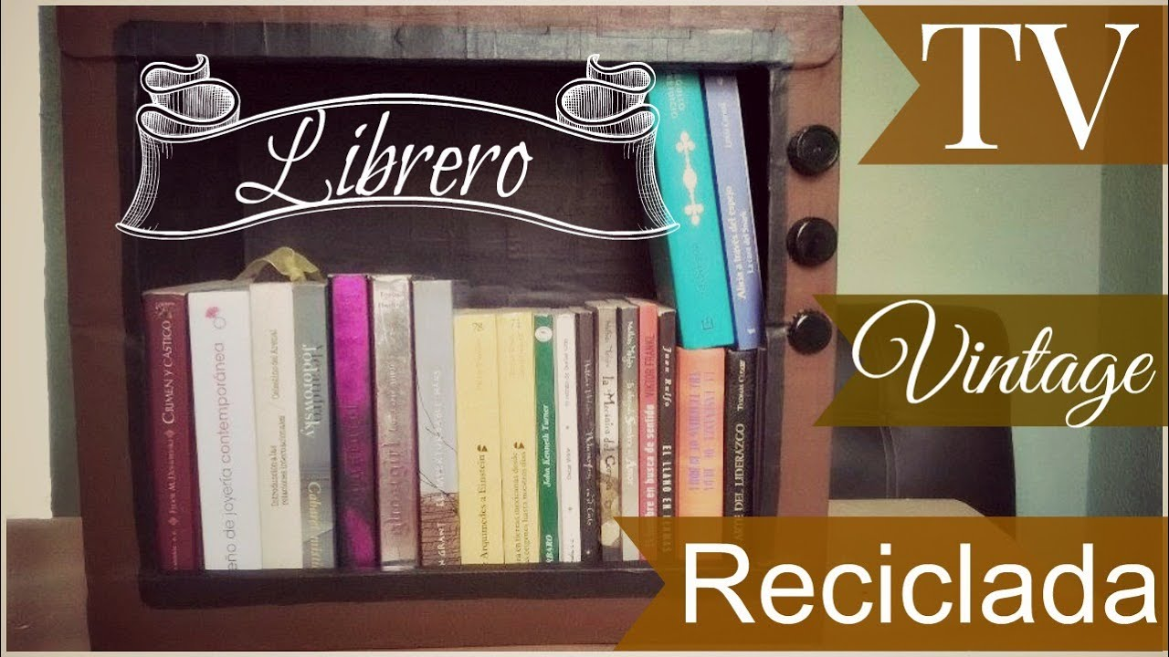 Diy Librero Vintage Reciclado Youtube