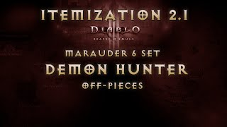 guide diablo 3 reaper of souls demon hunter marauder 6 set itemization off pieces 2 1 patch