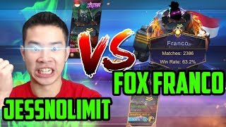 JESS NO LIMIT VS FOX, FRANCO 2000 MATCH! - FRANCO VS FRANCO!! - Mobile Legends
