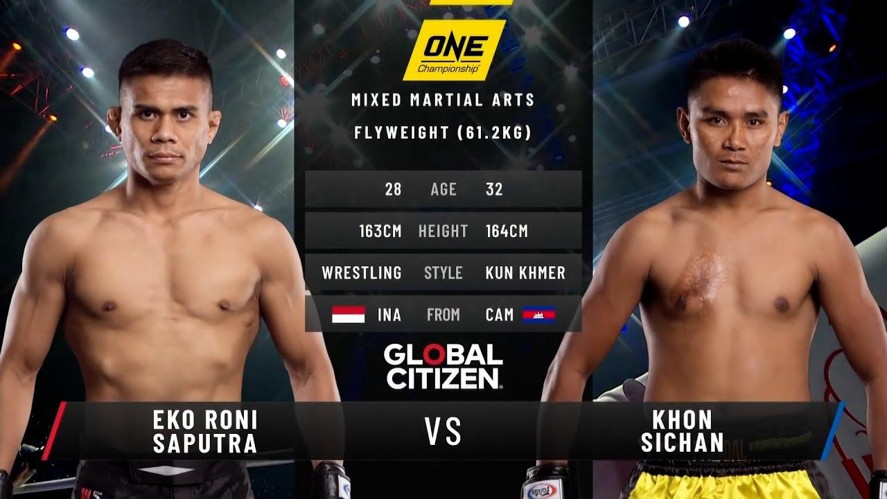 Eko Roni Saputra vs. Khon Sichan   ONE: BATTLEGROUND II Fight Replay