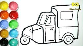 Bemo Classic Cara Menggambar Dan Mewarnai Angkutan Jadul Bemo Untuk Anak Youtube