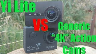 """The Yi Lite action camera - better than the """"no-name"""" action cams? Head to Head comparisons."""