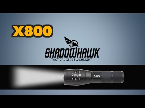 Shadowhawk X800 Military LED Flashlight - Product Spec Video Presentation
