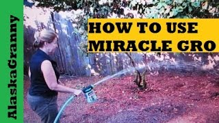 How To Use Miracle Gro