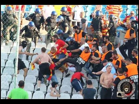 UEFA Europa League 2016 - Omonia-Jagiellonia. Police attacks away fans  23/07/2015