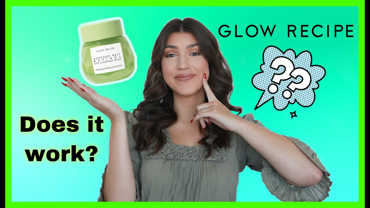 Glow Recipe Avocado Sleeping Mask   Brighten Under Eyes   Does it work?