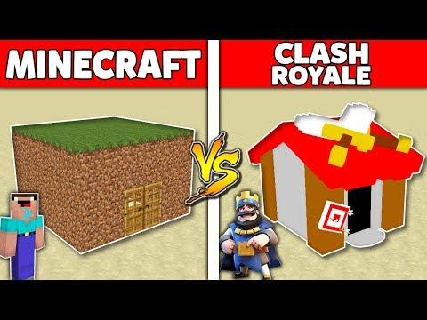Minecraft Battle: MINECRAFT vs CLASH ROYALE : SUPER HOUSE BASE Challenge in Minecraft Animation thumbnail
