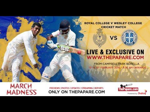Royal College v Wesley College - Day 1