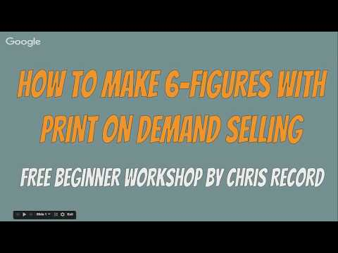 How to make money with Print on Demand Make $1000 per day