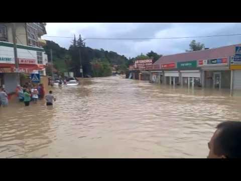 Шок! Потоп в Сочи 25 июня 2015 года
