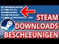Gambar cover Steam Schneller Downloaden - So kannst du die Steam ⏬Download⏬ Geschwindigkeit ⚡DRASTISCH⚡ erhöhen!