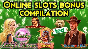 Online slots bonus compilation - Captain Venture, Book of RA, TED + More