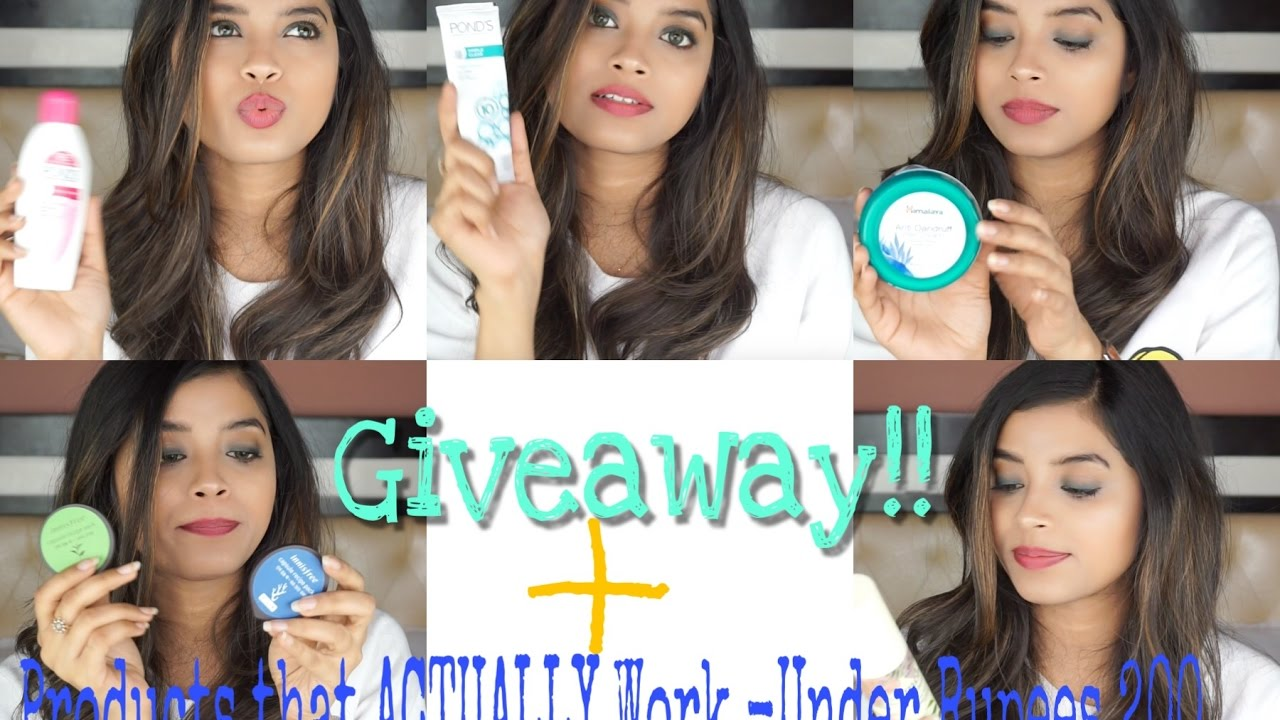 EFFECTIVE Skincare and HairCare Products Under Rs200+ Giveaway|Shweta Makeup&Beauty