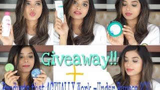 GIVEAWAY+Effective Skincare and HairCare Products Under Rs200|Shweta Makeup&Beauty