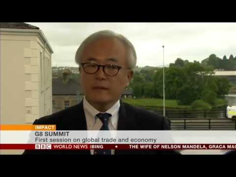 BBC World News Jon Sopel interviews Tomohiko Taniguchi of Japan at G8 Summit