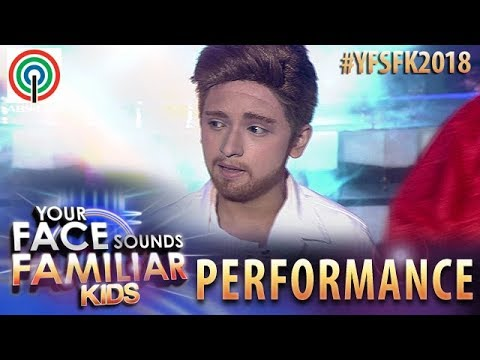 Your Face Sounds Familiar Kids 2018: Noel Comia Jr. as Justin T. | Can't Stop The Feeling