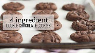 4 Ingredient Double Chocolate Cookies Recipe