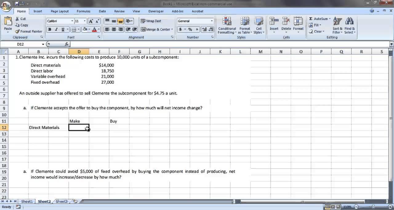 make vs buy analysis template
