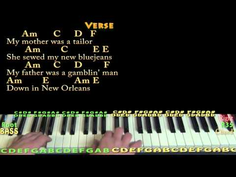 House of the Rising Sun - Piano Cover with Chords/Lyrics - YouTube