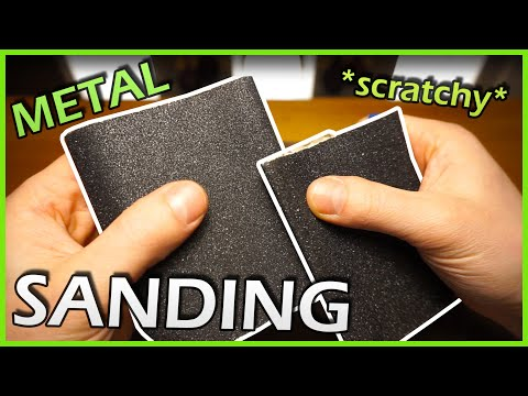 Sandpaper For Metal >> Asmr Metal Sanding Very Very Scratchy Sandpaper On Sandpaper No Talking