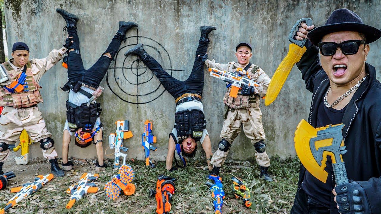 LTT Nerf War : SEAL X Warriors Nerf Guns Sniper Duo Fight Dr Ken Carry a Wanted Warrant